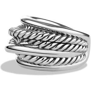 David Yurman narrow crossover ring